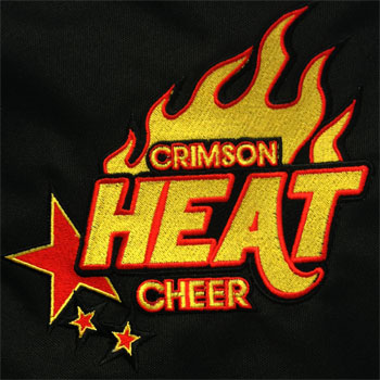 photo of Crimson Heat bag embroidery