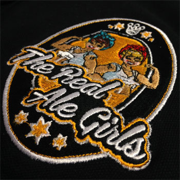 photo of Real Ale Girls ladies polo shirt embroidery