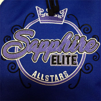 photo of Sapphire Elite rucksack embroidery