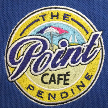 photo of The Point Cafe polo shirt embroidery