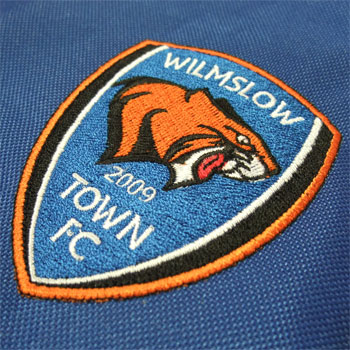 photo of Wilmslow Town FC kit embroidery